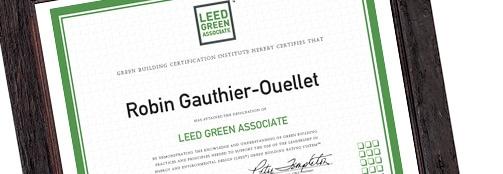 Robin Associé écologique LEED