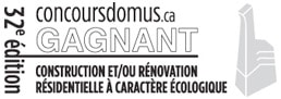 Concours Domus 2015 - Gagnant construction et/ou rénavation résidentielle à caractère écologique