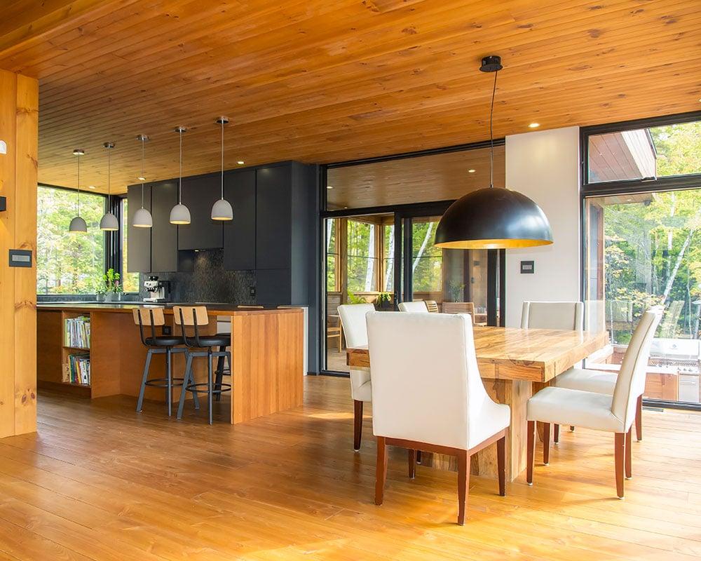 Une maison moderne agréable à vivre - Écohabitations boréales